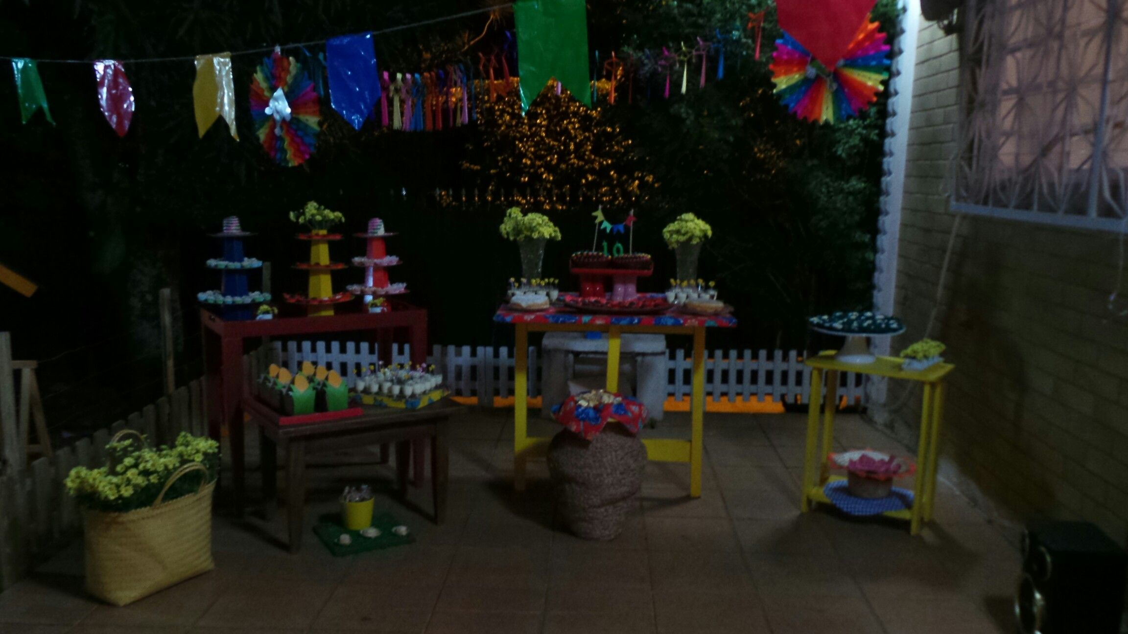 Mesa aniversario festa junina