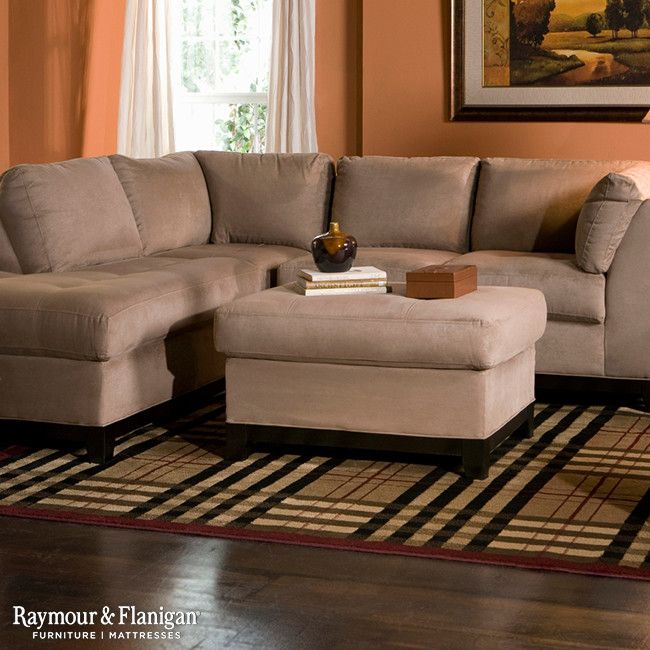 Room Magnificent Microfiber Sectional Sofa In Living Other Metro With Next To Raymour And Flanigan Ideas