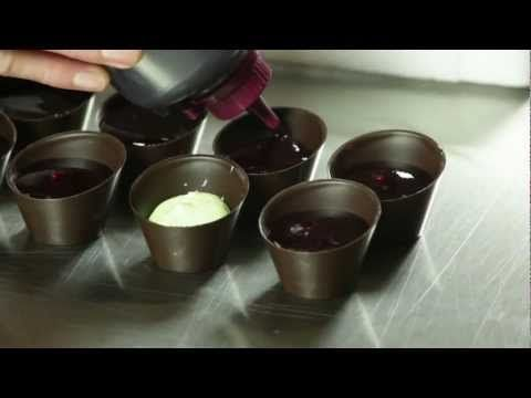 "In this video we show you a few suggestions how to use the chocolate cup ""Pisa cup dark"" (http://www.dobla.com/product/271/pisa_cup_dark.html).  Please visit dobla.com, if you want to know more about our chocolate decorations, chocolate toppings and chocolate cups."