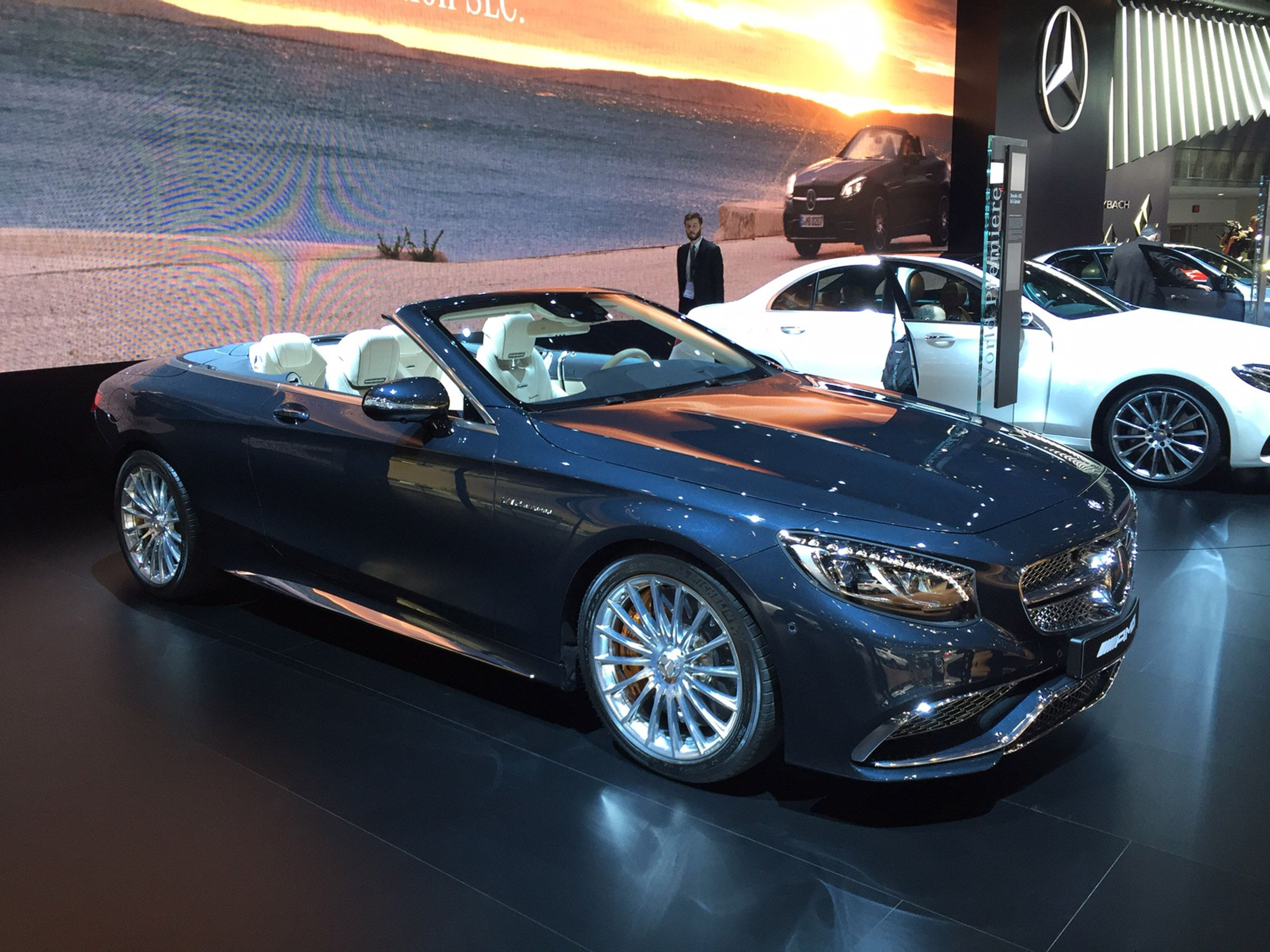Mercs most expensive sclass is displayed at the detroit