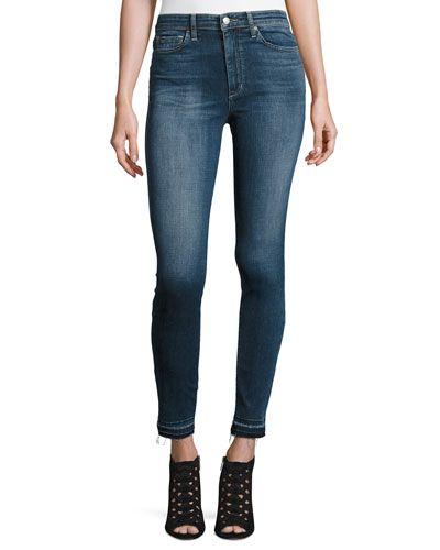 The Charlie Released-Hem Skinny Ankle Jeans, Breanna