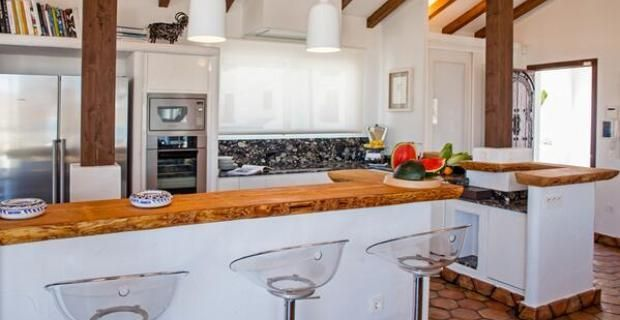 Resultado de imagen para barra rustica para cocina - Cocinas con barra americana modernas ...