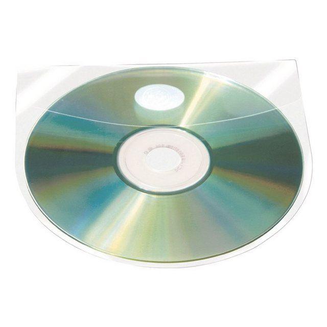 100 Selbstklebende CD/DVD/Blu-ray-Hüllen mit Selbstklebe-Versch