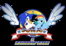 Size 600x420 Tagged Artist Snicketbar Crossover Emblem Logo Logo Parody Parody Rainbow Dash Safe Sega Simple Rainbow Dash Sonic Sonic The Hedgehog