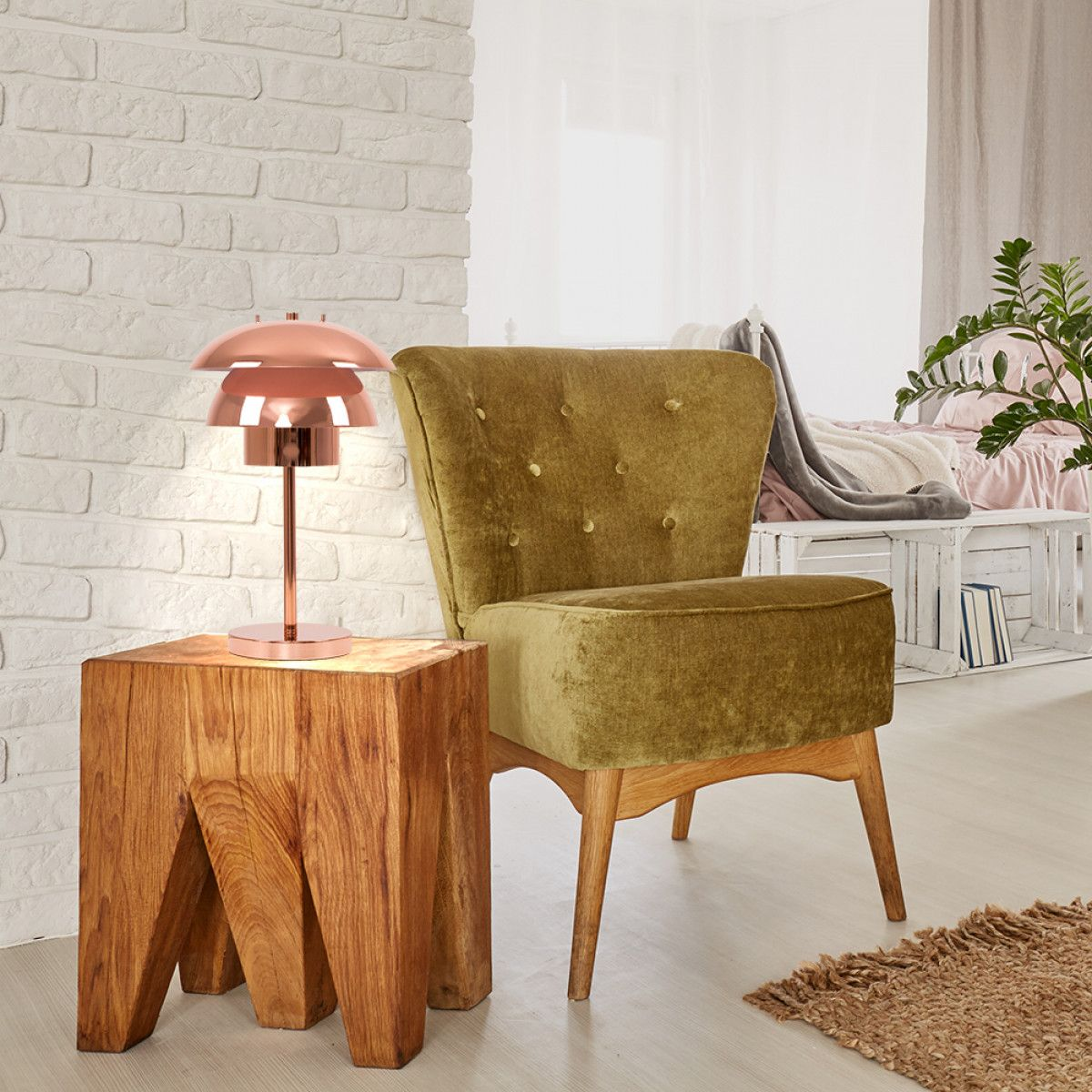 Atomic Eames Modern Art Ceramic Brass Table Lamp W 3 Tier Fiberglass Shade Lamp Vintage Lamps Table Lamp