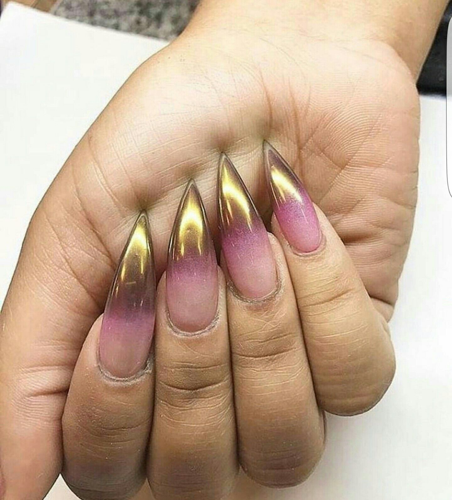 Rose and gold chrome ombre nails | Nail inspiration | Pinterest ...