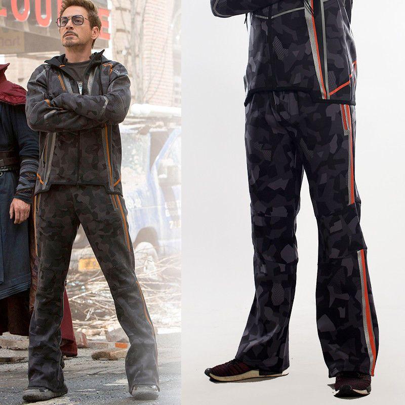 Avengers Infinity War Iron Man Tony Stark Hoodie Camouflage Coat Jacket S-5XL