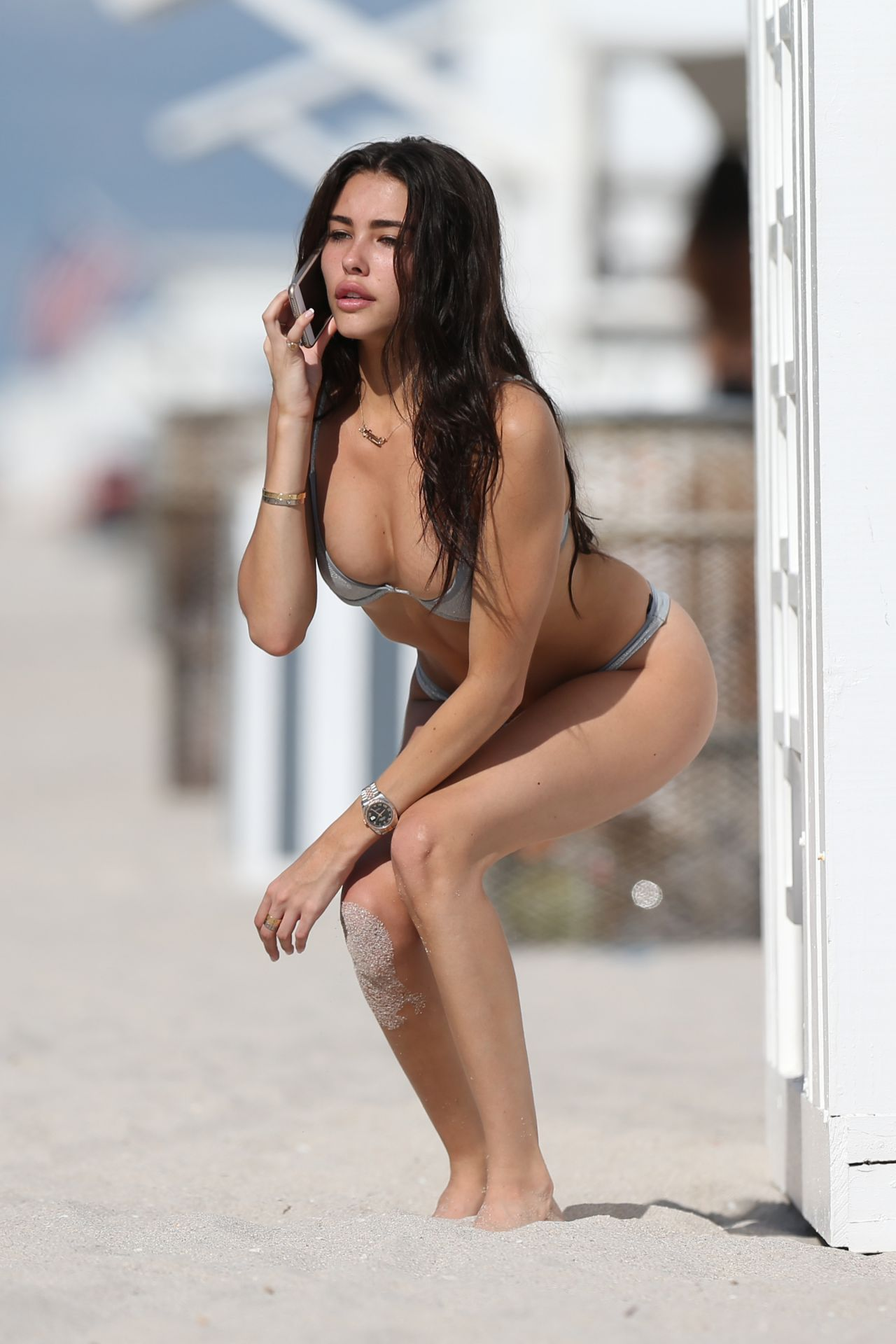 Madison Beer In A Silver Bikini Thanksgiving Holiday In Miami 11 22 2018 In 2020 Madison Beer Celebrity Pictures Madison