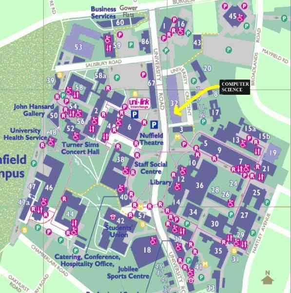Southampton Campus Map awesome Map Of Southampton University | Holidaymapq | Pinterest  Southampton Campus Map