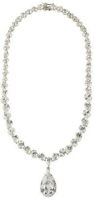 ShopStyle: CZ by Kenneth Jay Lane Pear-Cut Drop Necklace