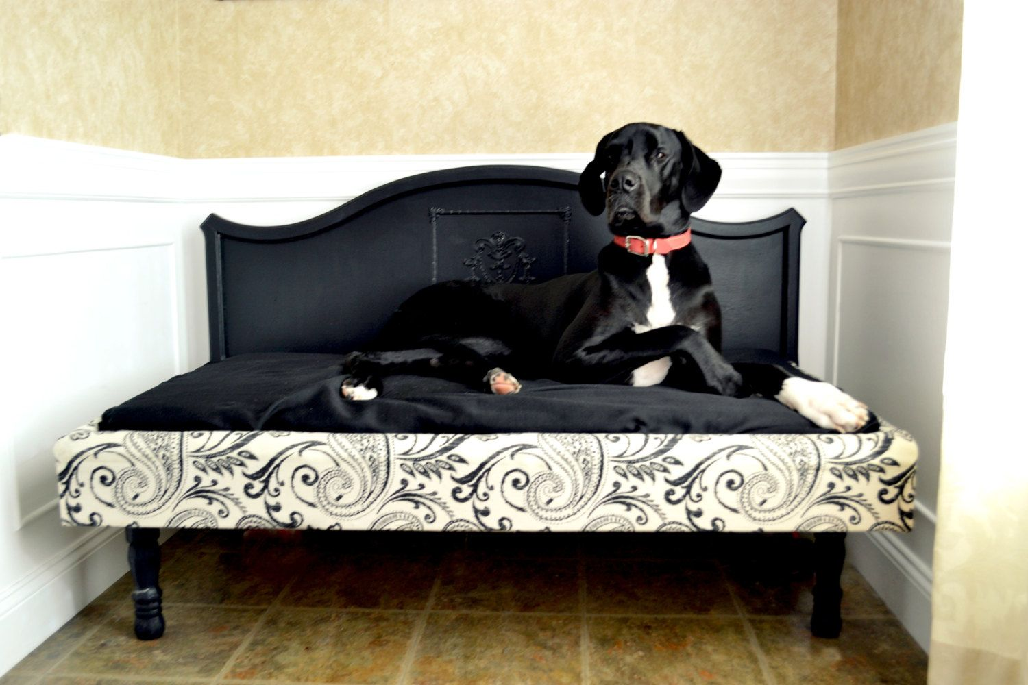 x large dog bed great dane size by shabbymychic on etsy. Black Bedroom Furniture Sets. Home Design Ideas