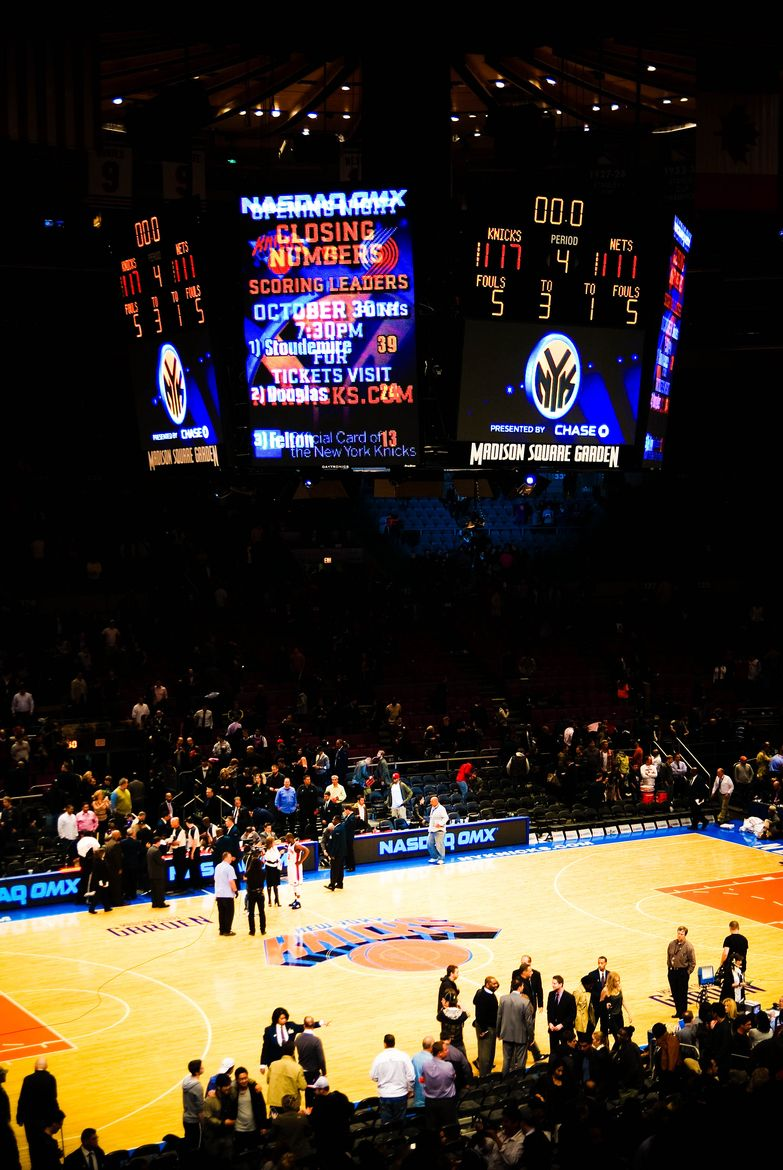 New york knicks at madison square garden nyc want to see the knicks play from a courtside seat Madison square garden basketball