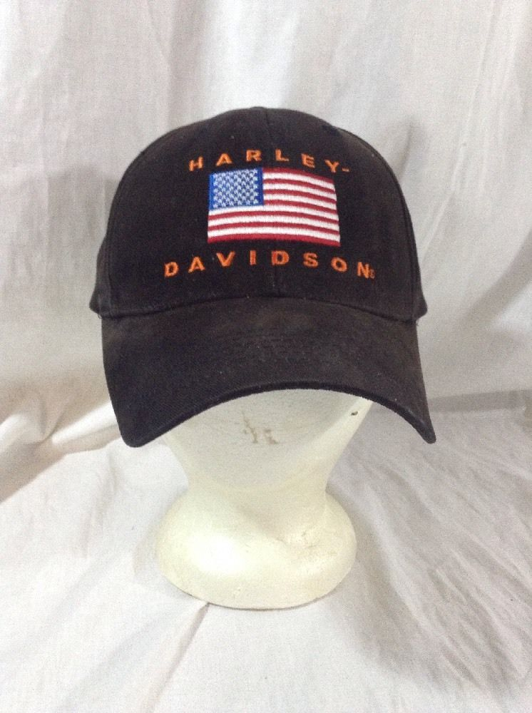 Harley Davidson Hat Fitted American Flag Cap Size 7 1 4  763687d9337