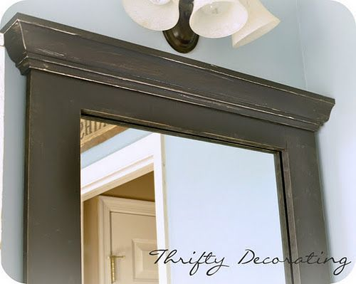 Thrifty Decorating Frame Your Bathroom Mirror I Hate The Cookie Cutter In Every Classes It Up