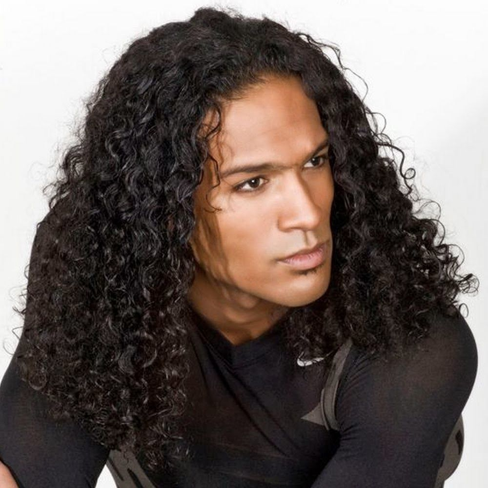 mixed curly hairstyles for men Google Search Long hair