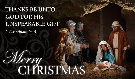 Image result for 2 corinthians 9 15  manger scene