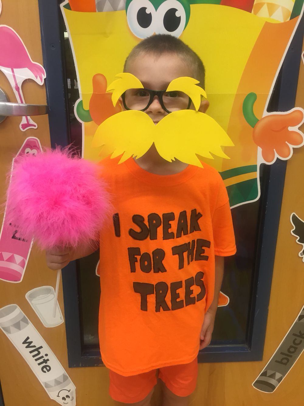 book parade! The lorax .. He speaks for the trees!