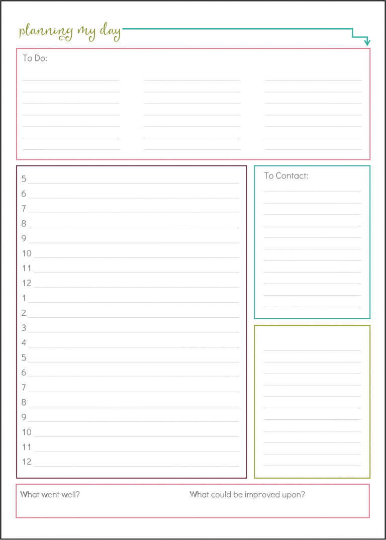 I love this time blocking technique she uses for planning her day and being more productive! I could get so much done! And the free printable is really cute too!