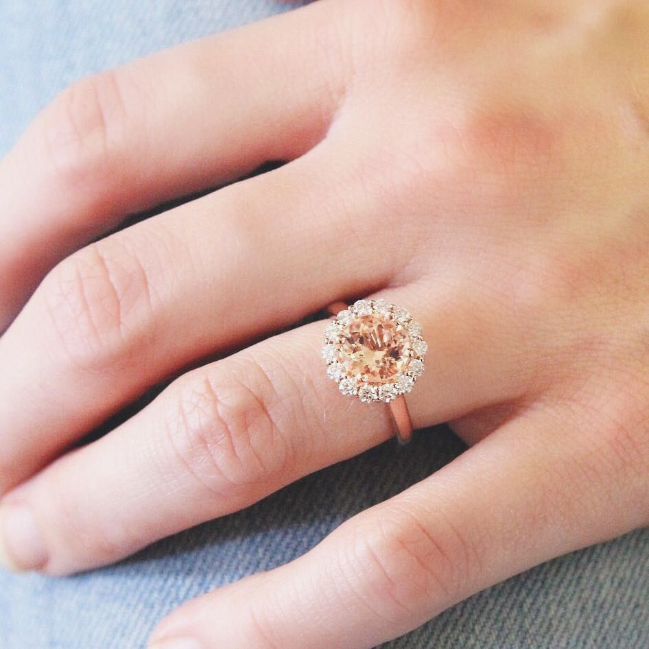 Naturally beautiful. Link in bio to shop this style | Morganite ...