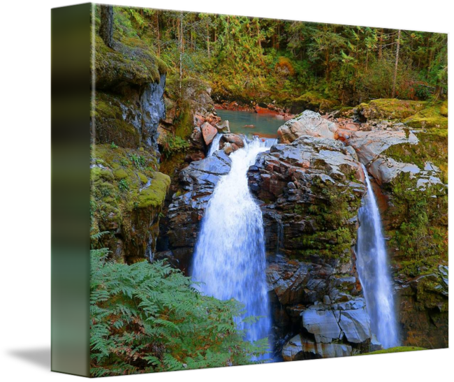 """""""Nooksack Falls  Mount Baker National Forest"""" by Photography Moments, Boise // Nooksack Falls, Mount Baker National Forest // Imagekind.com -- Buy stunning fine art prints, framed prints and canvas prints directly from independent working artists and photographers."""
