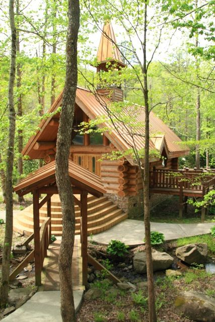 this resort coordinated our wedding we were married in the smokies near a stream
