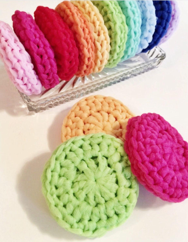 Set of 3 Crochet Dish Scrubbies, Thick Tulle Dish Scrubbies, Pot ...