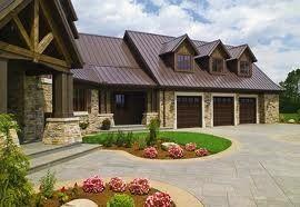 Best Rustic Homes With Metal Roof Brown Metal Roof Wood 640 x 480