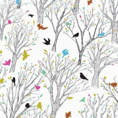 Nice Bird and Trees Print