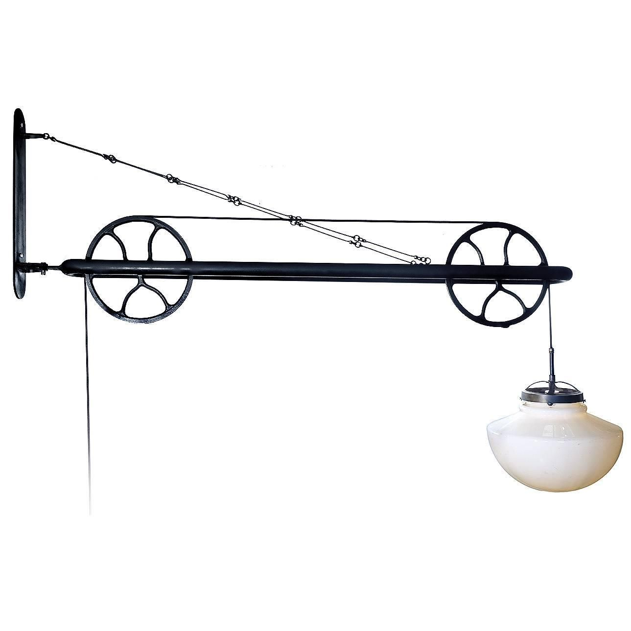innovative design 22c4c 1be05 Large Pulley Industrial Swing Arm Lamp | HISTORICAL Home ...