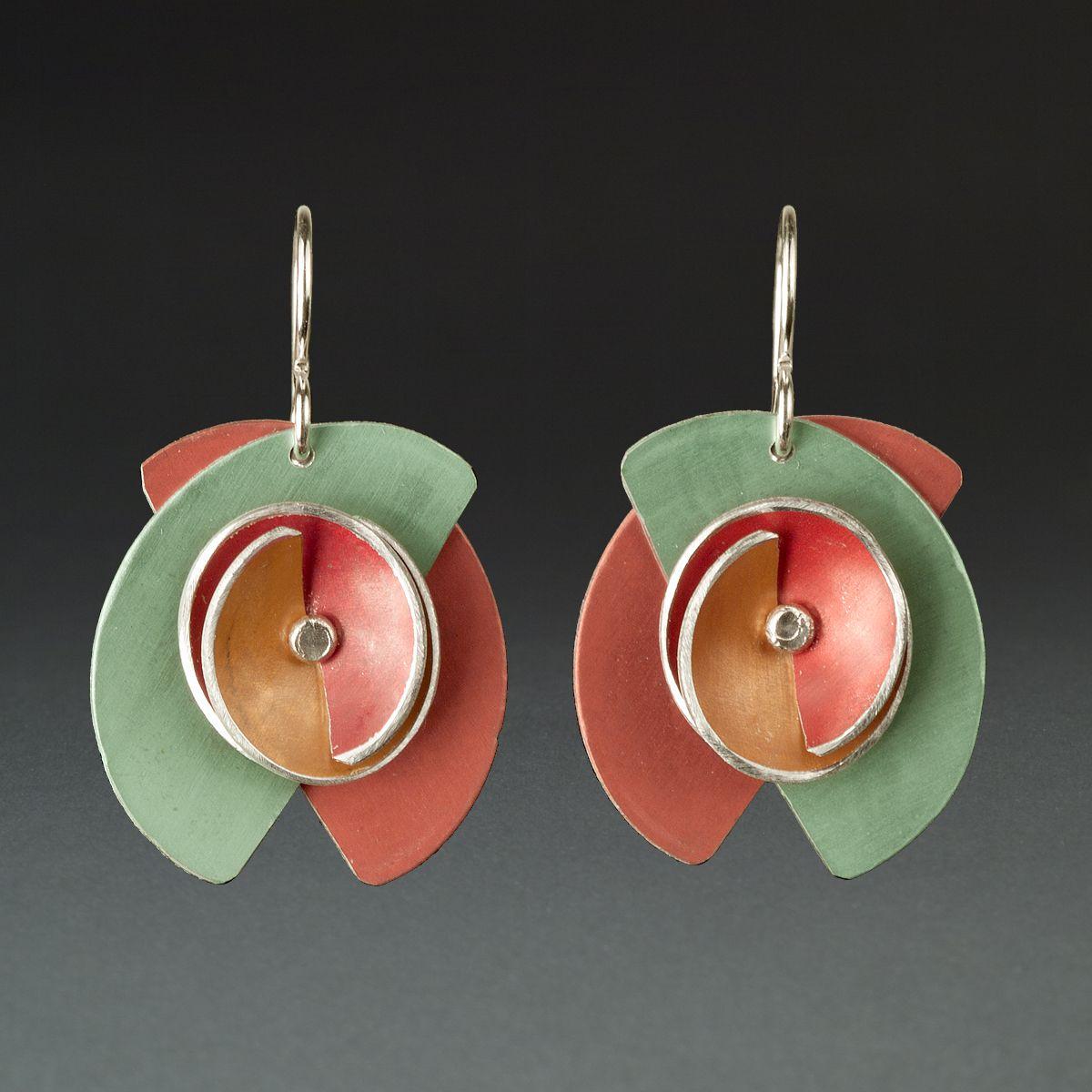 B Rust, Lime, Orange, Red Anodized aluminum jewelry
