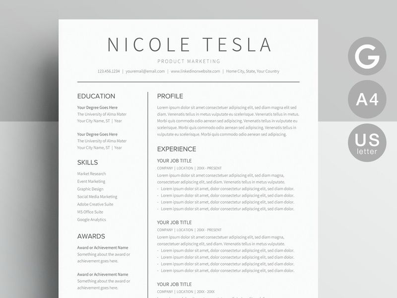 Google Docs Resume Template Resume Templates On Dribbble Teacher Resume Template Resume Template Word Resume Design Template