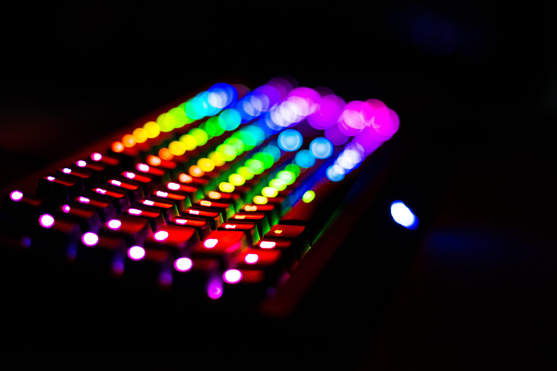 Rgb Light Night Keyboard Desk Colors Spectrum 5k Wallpaper Hdwallpaper Desktop Asus Hardware Components Device Storage