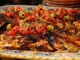 Picture of Whole Snapper with Grilled Vera Cruz Salsa Recipe