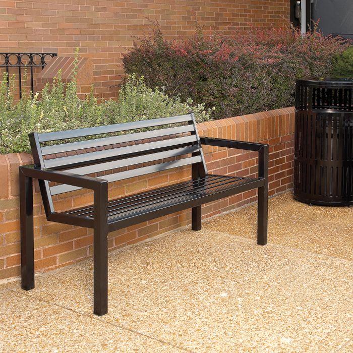 Metrix 6 Contour Bench Metal Garden Benches Metal Outdoor