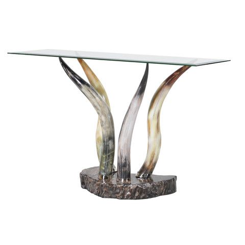 horn u0026 glass console table