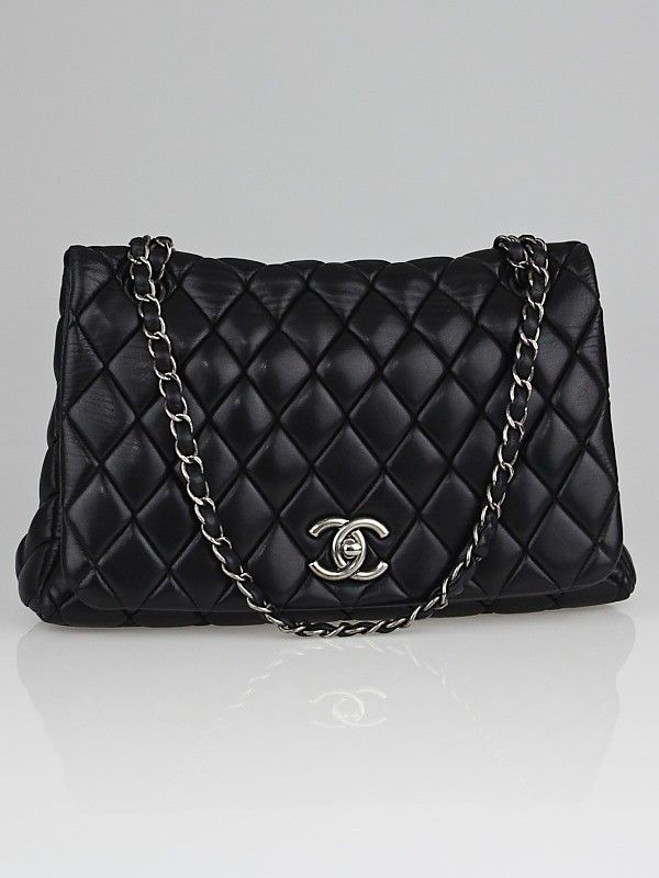 71fca7e94955 Chanel Black Quilted Lambskin Leather New Bubble Small Flap Bag - Designers  - 10022747