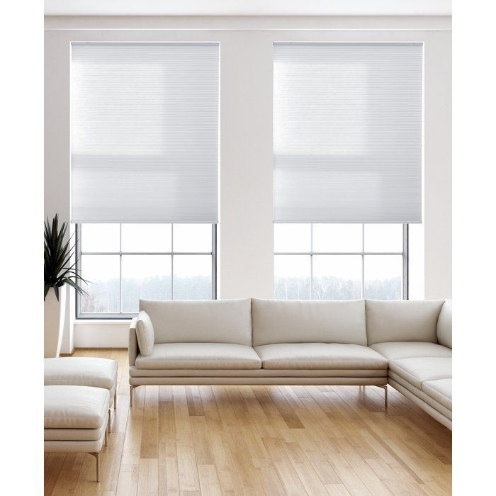 Light Filtering Pure White Cellular Shade #purewhite