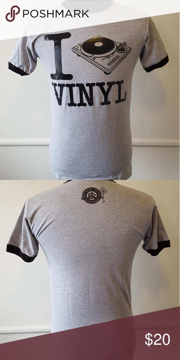 Dj I Spin Vinyl Turntable Shirt Small New Shirts Vinyl T Shirts For Women
