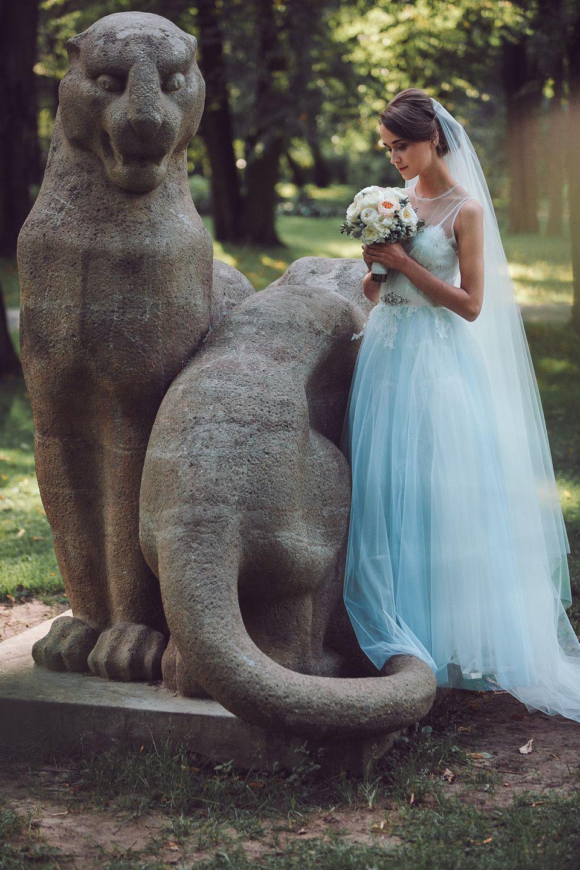 Rhapsody in Blue: Pale Blue Wedding Dresses by Katya Katya Shehurina   Love My Dress® UK Wedding Blog
