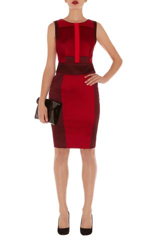 bd1147f8e568 Karen Millen Red Signature Stretch Satin Dress