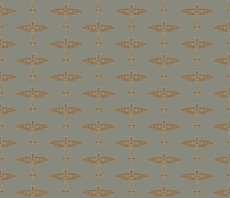 Supermarine Spitfire Repeating Pattern fabric by jelliclestudio on Spoonflower - custom fabric
