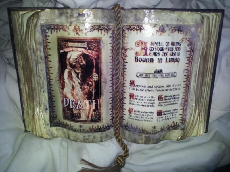 Homemade Madame Leota\u0027s Incantation Spellbook in Here, in this - halloween decorated cars