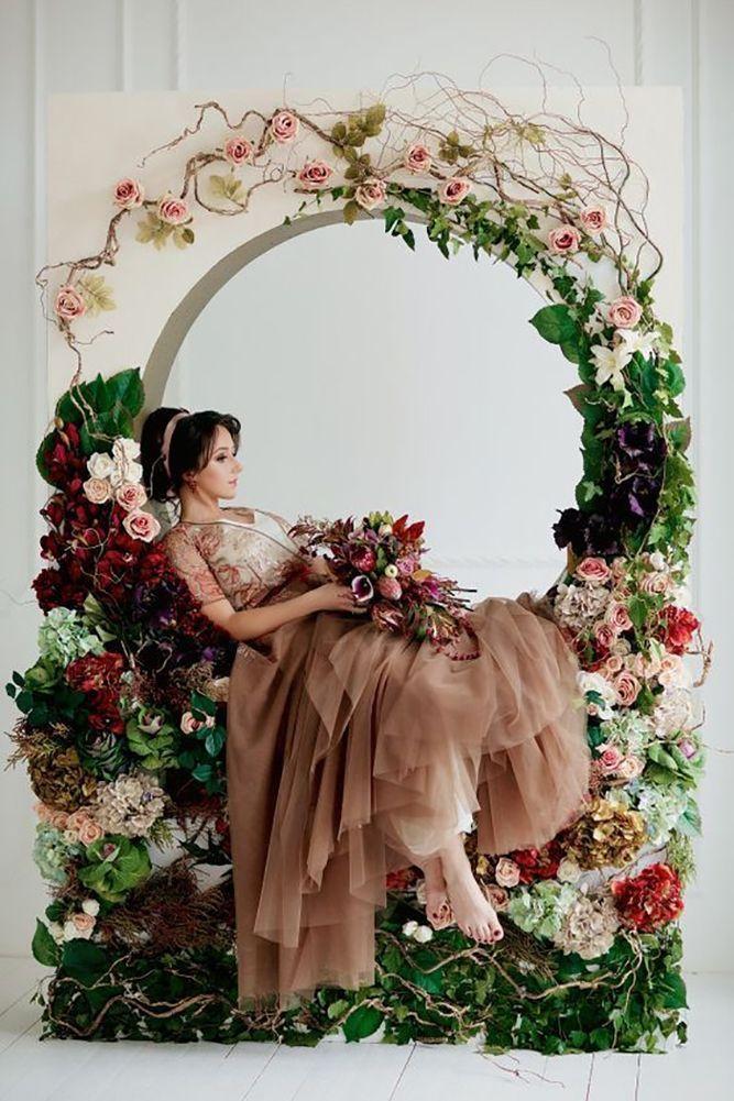 30 Magnificent Wedding Flower Wreath Photos ❤️ wedding flower wreath bride alone sitting inside the wreath mariza wedding ❤️ See more: http://www.weddingforward.com/wedding-flower-wreath-photos/ #weddingforward #wedding #bride #weddingphototgraohy #weddingflowerwreath