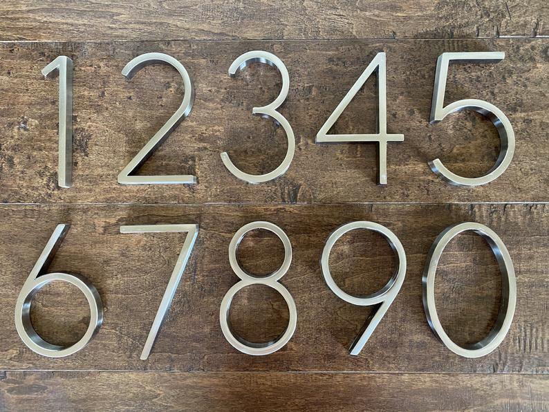 Vintage Bois 0-9 Nombre Numéro numéro maison plaque türschilder