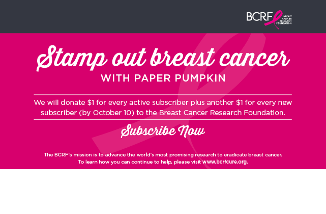 Canadian subscribers can go here: https://goo.gl/cJjBcN #paperpumpkin #canada #breastcancer