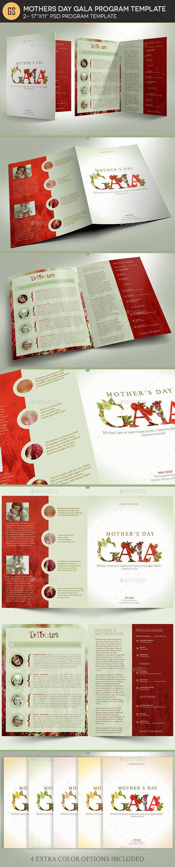 mothers gala program template informational brochures healy