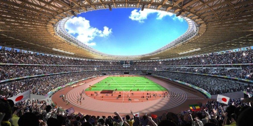 Tokyo Breaks Ground On Kengo Kuma S Olympic Stadium Tokyo