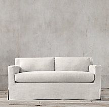 petite belgian track arm slipcovered sofa oxford bed 5 the 298 ashmont