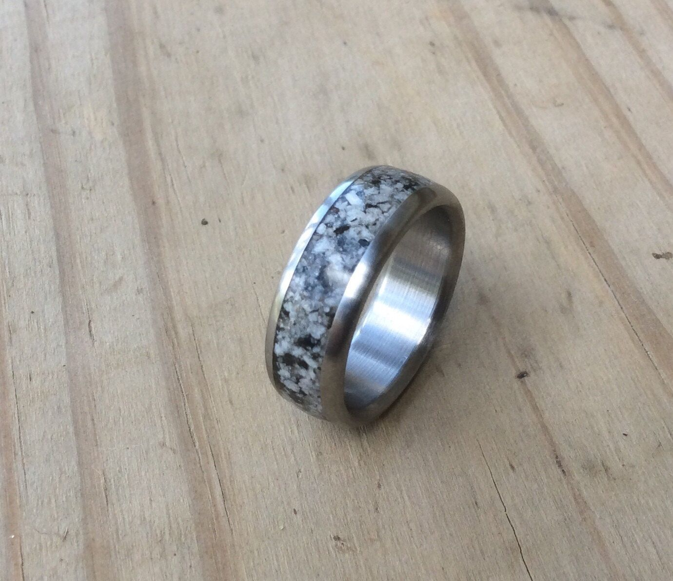 Anium And Granite Inlay Ring By Robandlean On Etsy Https Www