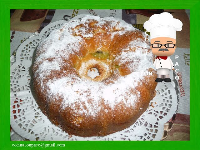 Cocina con Paco: Bundt cake de Kiwi